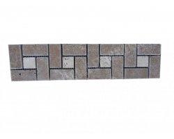 Travertin Frise Noce & Classique Target 30x7,5 cm