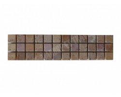Travertin Frise 2,3x2,3 cm Jaune & Rose 30x7,5 cm