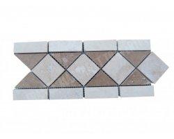 Travertin Frise Classique & Noce Adouci 28,5x12 cm