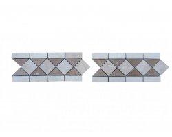 Travertin Frise Classique & Noce Adouci 28,5x12 cm 2