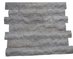 Marbre Blanc Parement 10 cm x Bande Libre Éclate