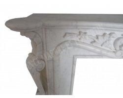 Marbre Afyon Blanc Cheminée 160x120 cm  2