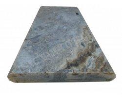 Travertin Silver Couvertine 30x61x5 Arrondi Goutte d'eau 2