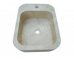 Travertin Classique Lave Main 45x35x15 cm Adouci 2