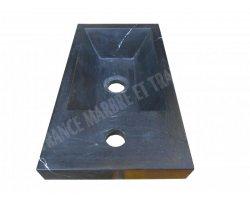 Marbre Noir Lave Main 40x22x9 cm Poli 2