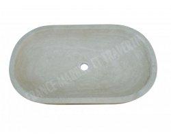 Travertin Classique Vasque Ovale 70x40 cm Adouci
