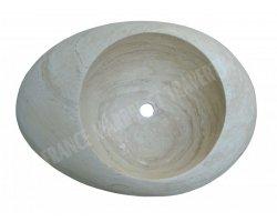 Travertin Classique Vasque Galet 70x40 cm Adouci