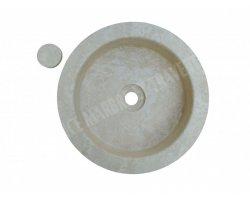 Travertin Classique Vasque Cylindre Bouchon Adouci 2