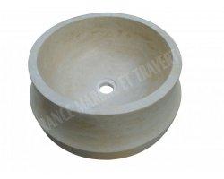 Travertin Classique Vasque Cylindre Etape Adouci 2