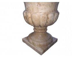 Travertin Classique Pot a Fleur 55x55x60 cm 2
