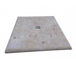 Travertin Beige Chapeau Pilier 30x30x3 cm 2
