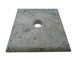 Travertin Silver Chapeau Pilier 20x20x3 cm 2
