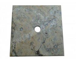 Travertin Silver Chapeau Pilier 30x30x3 cm