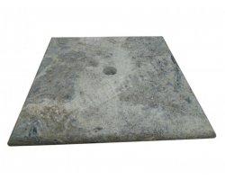 Travertin Silver Chapeau Pilier 40x40x3 cm 2