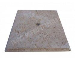 Travertin Beige Bouchon Siphon 40x40 cm 2