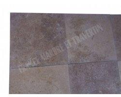 Travertin Noce Marron 45x45x1,2 cm Adouci 2