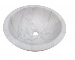 Marbre Carrara Blanc Turque Vasque Mini Bol Poli 2