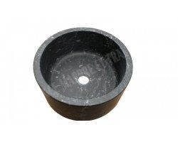 Marbre Noir Vasque Petit Cylindre Poli 2
