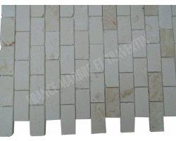 Calcaire Myra Beige 4,8x10 cm Mosaïque Antique  2