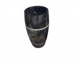 Marbre Noir Piédestal Vasque Poli