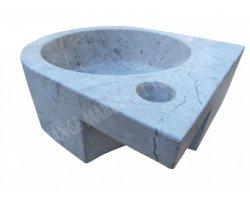 Marbre Silver Vasque Lave Main Angle 26x28 cm  2
