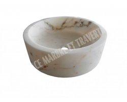 Marbre Afyon Violet Vasque Cylindre Poli 2