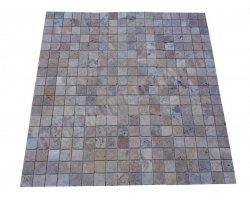 Travertin Scabos Mosaïque 4,8x4,8 Antique 2