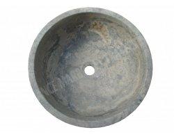 Travertin Silver Vasque Bol Luxe Strié