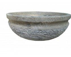 Travertin Silver Vasque Bol Luxe Strié 2