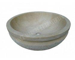 Travertin Classique Beige Vasque Bol Luxe Strie 2