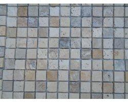 Travertin Mixte 4 Couleur Mosaïque 2,3x2,3 cm  2