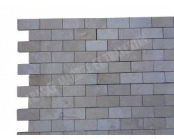 Travertin Classique Mosaïque 4,8x10 cm Poli  2