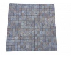 Travertin Scabos Mosaïque 4,8x4,8 cm Antique  2