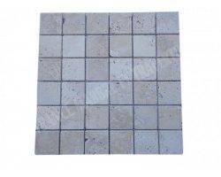 Travertin Beige Clair Mosaïque 4,8x4,8 cm