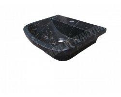 Marbre Noir Évier 56x46x15 cm Poli 2