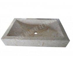 Marbre Marfil Bursa Beige Évier 70x50x10 cm Poli 2