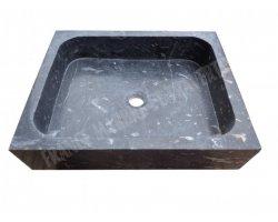 Marbre Noir Efes Sun Évier 40x50x12 cm Poli 2