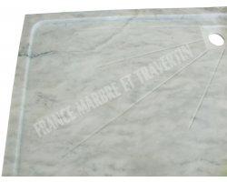 Marbre Blanc Bac A Douche 115x90x6 cm 2