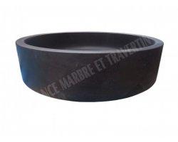 Basalte Noir Vasque Grand Cylindre Adouci 2