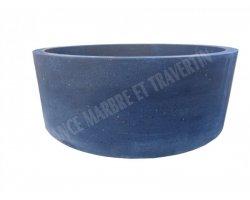 Basalte Noir Vasque Cylindre Adouci 2