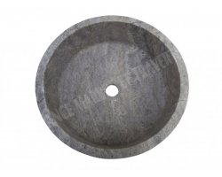Travertin Gris Silver Vasque Cylindre Adouci 2