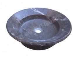 Marbre Noir Vasque Coupelle Poli 2