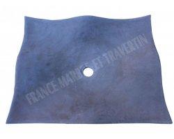 Basalte Rectangle Vasque 50x40 cm Feuille Adouci