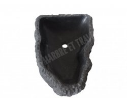 Basalte Noir Vasque Triangle 40x50x15 cm Adouci 2