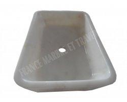Marbre Afyon Blanc Vasque 50x70x20 cm 2