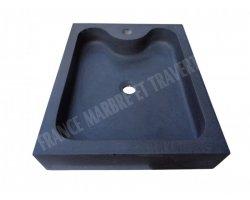 Basalte Noir Evier 50x40x10 cm Adouci 2