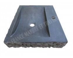 Basalte Noir Evier 48x40 cm Éclate Adouci 2