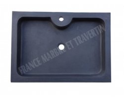 Basalte Noir Evier 70x50x10 cm Adouci