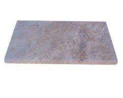 Travertin Classique Nez de Marche 30,5x61x5 cm Arrondi