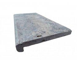 Travertin Silver Nez de Marche 30,5x61x5 cm Arrondi  2